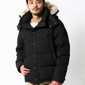 남성 겨울 Fourrure 다운 파카 옴므 Jassen Chaquetas 겉옷 늑대 모피 후드 Manteau 윈드 자켓 코트 Hiver Doudoune