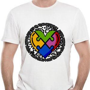 Womens Autism Awareness T Shirt ser diferentes do enigma do coração do autismo camisetas ver Capaz
