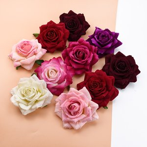 10pcs 10CM roses head wedding decorative flowers wall diy christmas decorations for home bride brooch artificial flowers cheap C0924