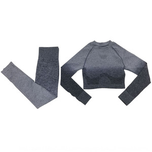 Colgando teñido sexy ombligo de la mujer ropa ajustada ropa de yoga camiseta deportiva de secado rápido de manga larga ropa de yoga de fitness transpirable T-shi