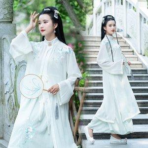 ezMa4 Frühling und Sommer neue traditionelle chinesische Tages chinesische Elemente Stickerei Kragen Garn Shirt einteiligen Taille Stickerei clothin stehen