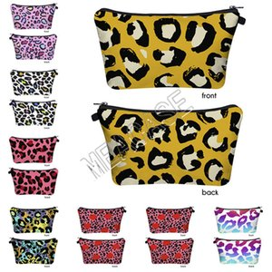 Women Fashion Bags Color Leopard Printed Cosmetic Bag Designer Print Clutch Bag Phone Handbag Ladies Storage Toiletry Bag 11 Styles D81209