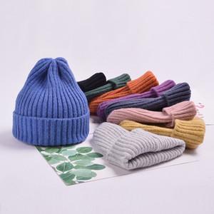 Cap Kayak Beanie Güzel Stripe Maske Riskten Düz renk Kadın Bere Kış Sıcak Şapkalar Masum Cap Yün Sivri Şapka
