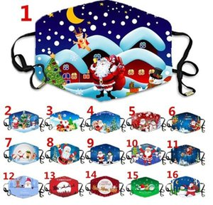 Designer Christmas face Masks Deer Printed Fashion Face Masks Anti Dust Snowflake Christmas Mouth Cover Reusable