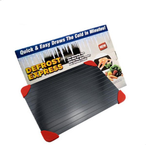 Schnell Defrost Tray Aluminiumlegierung Textur Abtauenplatte Steak Frozen Food Fleisch auftauen Brett Küche Thaw Gadget-Werkzeug Drop LSK821