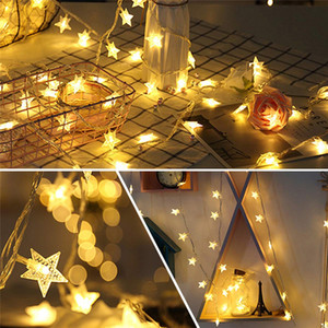 HOT Star String Battery USB Operated LED Twinkle Indoor Fairy Lights Warm White for Patio Wedding Bedroom Princess