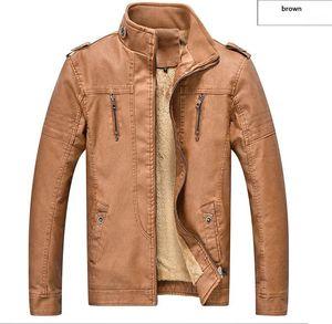 Coat Luxury Plus Размер Кожа Верхняя одежда Мода Мужские куртки на молнии конструктора Mens PU
