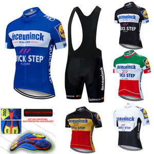 2020 New QUICK STEP Team cycling jersey gel pad bike shorts set MTB etixxl Ropa Ciclismo mens pro summer bicycling Maillot wear