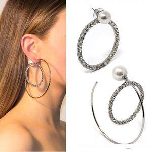 2019 Latest Model Women's Earrings Stud For Goddess Classic High Quality Luxury Oversized circle pearl designin