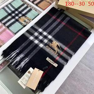 Burberry alta qualidade 2019 moda outono e inverno da marca lenços de seda clássico atemporal, super longa xale lenços de seda macia de moda feminina