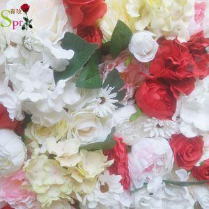 SPR RED розы Стеновые панели свадьба фон искусственный цветок ряд арка бегун декоративную расположение Flore