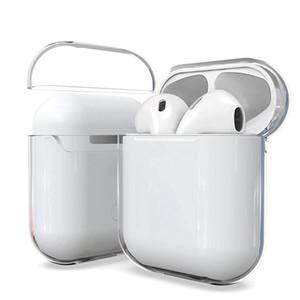 La caja transparente para Airpods Pro Auricular Bluetooth TPU protectora transparente cubierta para Airpods 2 1 envío de DHL inalámbrica