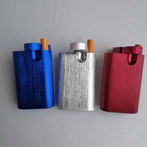 CNC All In One-Aluminiumbehälter Dugout Hitter Digger Rod Poker Tabakspeicher Dosen 5 Farben senden Randomly Für Smoking Pipe Tools Geschenk