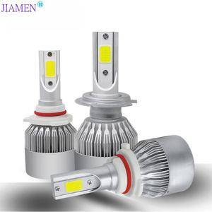 JIAMEN 2Pcs Car Lights Bulbs LED H4 H7 9003 2 H11 LED H1 H3 H8 H9 880 9005 9006 H13 9004 9007 Auto Headlights 12V Light