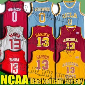 NCAA الشمس الشياطين جيمس هاردن 13 جيرسي UCLA راسيل ويستبروك 0 الفانيلة الكلية لكرة السلة الفانيلة حكيم عليوان جرانت 8-30 قميص