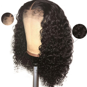 Newest 4x4 Closure Wig Curly 13x4 Lace Front Wig Pre plucked For Women Peruvian Curly Remy Human Hair Wig Glueless 150%
