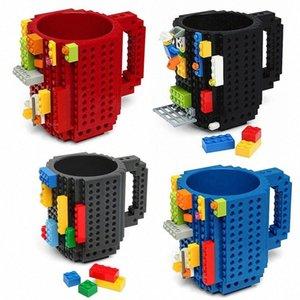 350ml Creative Café Tasse de Voyage Enfants adultes Couverts Lego Tasse boisson de mélange tasse de vaisselle pour enfants u44m #