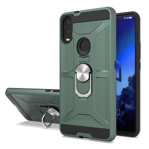 Für Alcatel 3V 2019 Ringgehäuse 360 drehen Standtelefonabdeckung LG K51 Stylo 6 Aristo 4 Escape-Plus-Coolpad Erbe Wiko Metro Stück fahren