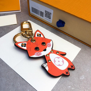New cartoon fox pendant designer key chain wild fashion keychain