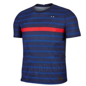 2020 FR MBAPPE Griezmann Pogba de 2021 Maillot de football de football chemises hommes maillot de pied + kit enfants