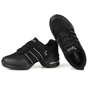 Sapatos de dança para senhoras Mulheres Meninas Recurso dança moderna do jazz sapatos macios sola respiração Dança Tênis Feminino Waltz Sneakers Tamanho 28-42
