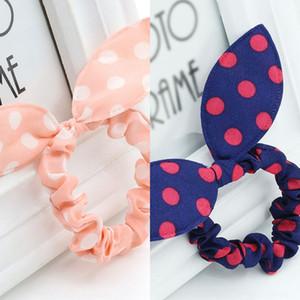 Lapin cheveux arc Bande coréenne polka Tu Er cheveux corde style oreille mignon vente chaud corde mignon dot coiffure florale K3Fpq