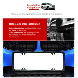 Amerikan araçlar için cıvata yıkayıcı kapağı ile 4 delikli paslanmaz çelik plaka çerçevesi, 2 ADET araba plaka kapağı ultra ince tasarımı,
