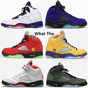 2020 Ce que les 5 Jumpman Basketball Chaussures de feu rouge Autre Bel-Air de raisin Travis Scotts entraîneurs des hommes de sport Chaussures de sport Taille 40-47
