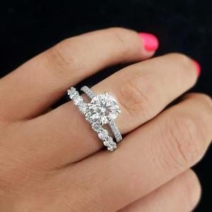 produto original Moda Trendy 925 Engagement prata anel de casamento para as mulheres prometem Dedo atacado desconto R5499