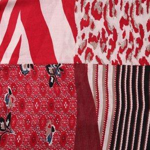 Печать Wrap Foulard Женская мода Цветочные Лоскутная Новые шарфы Foxmother пашмины Snake Платки Leopard Bufandas cEaZB garden2008