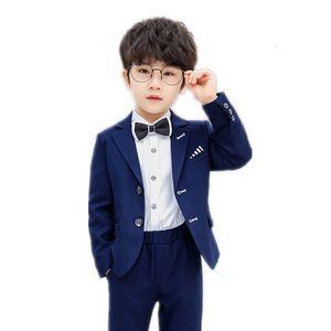 2-11Y Children Formal Suits Set for Piano Performance Host Fashion Boy Blazer Pants Bowtie 3pcs Clothing Set Kids Tuxedo Costume