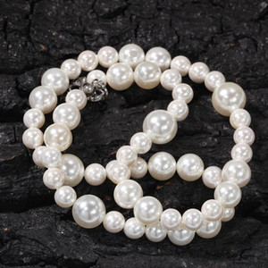 Mens Womens Pearl Necklace Hip Hop Necklace Jewelry High Quality 6mm 8mm 10mm Mixed Pearl Necklace