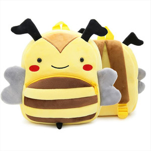 TFSCLOIN 3D смазливая мультфильм животных шаблон детей рюкзак Малыш Малыш Мальчик в девочке Пчелиный животных рюкзак мешок школы детских садов