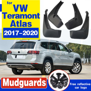 Frente traseras 4pcs guardabarros Conjunto de coches de Volkswagen VW Teramont Atlas 2017 2018 2019 2020 Guardabarros Guardabarros Mudflaps Flap
