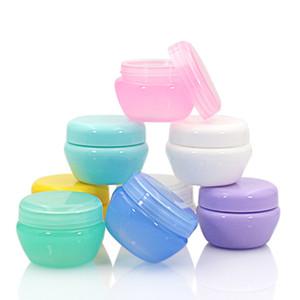 5pcs / Garrafas Set recarregáveis de plástico Maquiagem vazio Jar Travel Box Pot portátil Creme / loção / Cosmetic Container Box Hot Sale