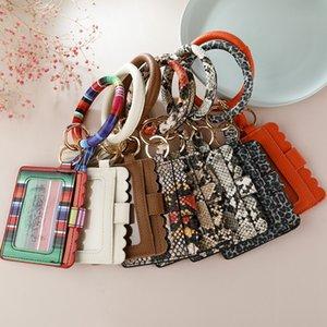 Tassel Portachiavi Bracciali 27 stili di cuoio del cinturino dell'orologio Portachiavi Leopard Snake Portafoglio braccialetto portachiavi Holder OOA8300