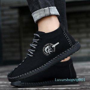 Bravover Nouvelle haute qualité Hiver Fashion Hommes Bottes de neige Split Cuir Bottines Bottines Chaussures à fourrure chaude Chaussures de plein air Plus Taille008