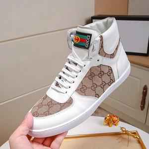 Los hombres de moda zapatos de encaje -Up cuero de lujo de los zapatos ocasionales de la zapatilla de deporte con original caja de zapatos Zapatos De Hombre suelas de goma para hombre de las botas del tobillo Luxur