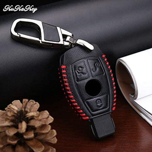 Red Line Car Key Case Cover For Mercedes Benz W203 W210 W211 AMG C E CLS CLK CLA SLK Key Shell Fob car accessories