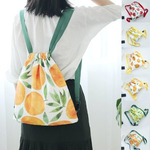 Fruits Imprimer Sac Sac de sport en plein air Fitness Bundle Pocket unisexe Drawstring Backpack femmes Sacs à dos Tide