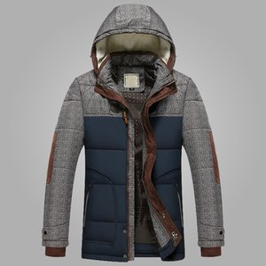 Mens Coat Parkas with Hooded Warm Casaco Masculino Brand Winter Jacket Men Fashion M-5XL New Arrival Casual Slim Cotton Thick