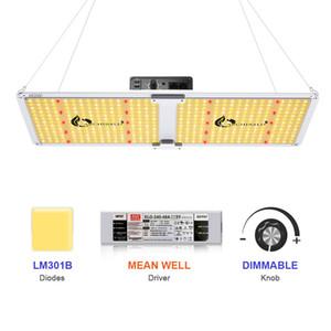 LED 식물 성장 조명 Meanwell 드라이버 SF2000 전체 스펙트럼 성장 라이트 3000K 3500K 660 220W 수경 실내 식물 텐트 라이트 DHL