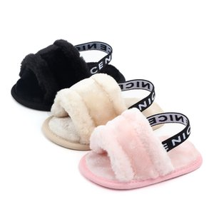6 colors baby Fur sandals infant shoes toddler boutique anti-skidding kids shoes spring fall Soft first walkers 11 12 13cm