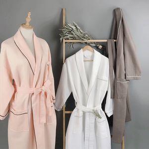 Star Hotel летняя тонкая розовая белого хлопка вафельной ночная рубашка пижама пижама пот пароход мягких впитывающие дышащей