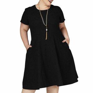 Gran Verano 2020 Grasa MOM mujer suelta más la ropa de las mujeres de talla venta 9XL espacio libre vestidos de vestir