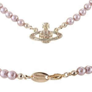 2020 Nuovo marchio di gioielleria femminile alla moda occidentale Regina Madre Vivienne Vivienne Saturno collana di perle clavicola catena Punk Atmosfera