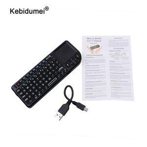 İspanyolca / Rusça / İngilizce 2.4G RF mini kablosuz klavye 3 1 mini El Qwerty + Dokunmatik Fare İçin PC Notebook Smart TV de