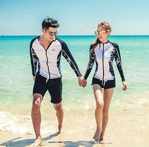 estilo pareja coreana traje a prueba de sol ropa de traje de buceo deportes al aire libre de la ropa de deportes al aire libre medusas de manga larga de la yoga buceo surf wo