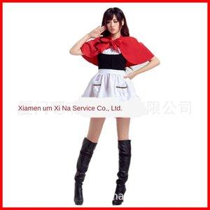 Nuovo carino abbigliamento COS Wansheng festa Little Red Hat Natale vestiti caffè Maid Dress cameriera cosplay panno Cappuccetto Rosso