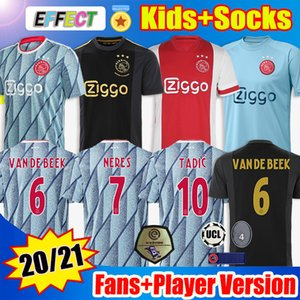Maillot De Foot 20 21 AJAX Amsterdam FC 50th Soccer Jerseys 2020 2021 PROMES TADIC NERES Hommes Enfants Version Joueur Maillots De Football 50 Ans Uniformes Kits